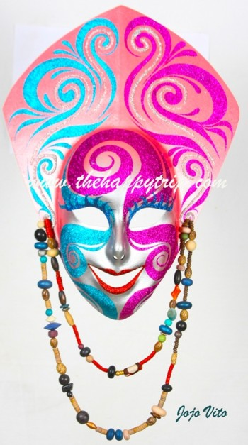 """We use to call this mask """"Senora""""....she was rebaptized by LYN LAYSON as """"Rhodora"""""""