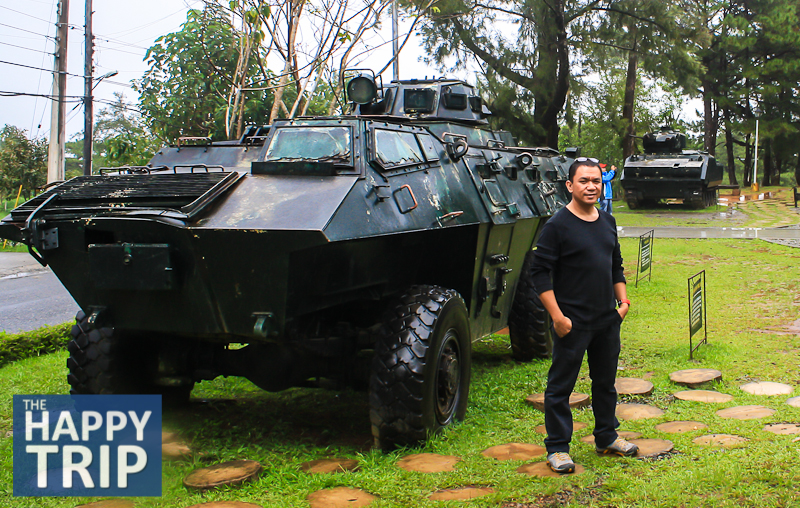 The Author and the Vintage Tank at the Philippine Military Academy