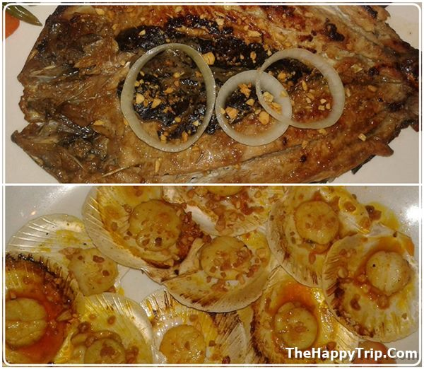 bangus and scallops