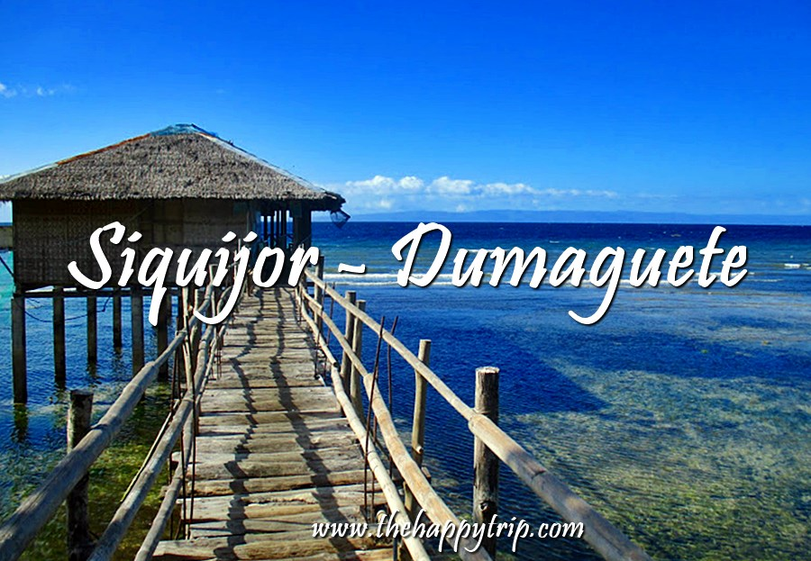 DUMAGUETE TO SIQUIJOR ITINERARY