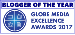 2017 BLOGGER OF THE YEAR | GLOBE MASS MEDIA EXCELLENCE AWARD