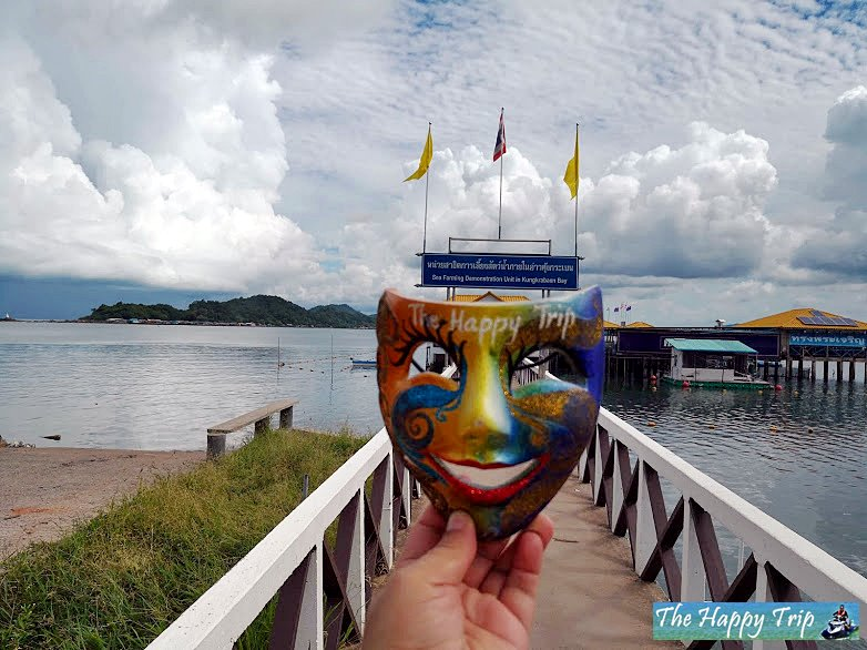 appy Trip's JoJoy, The traveling mask at Kung Krabaen Bay Royal Development Study Center