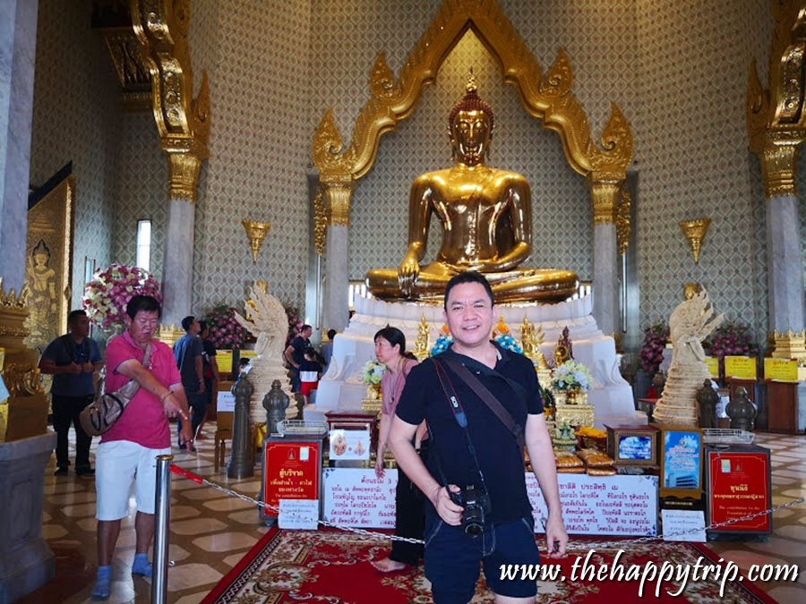 The Author at the Golden Buddha, Thailand