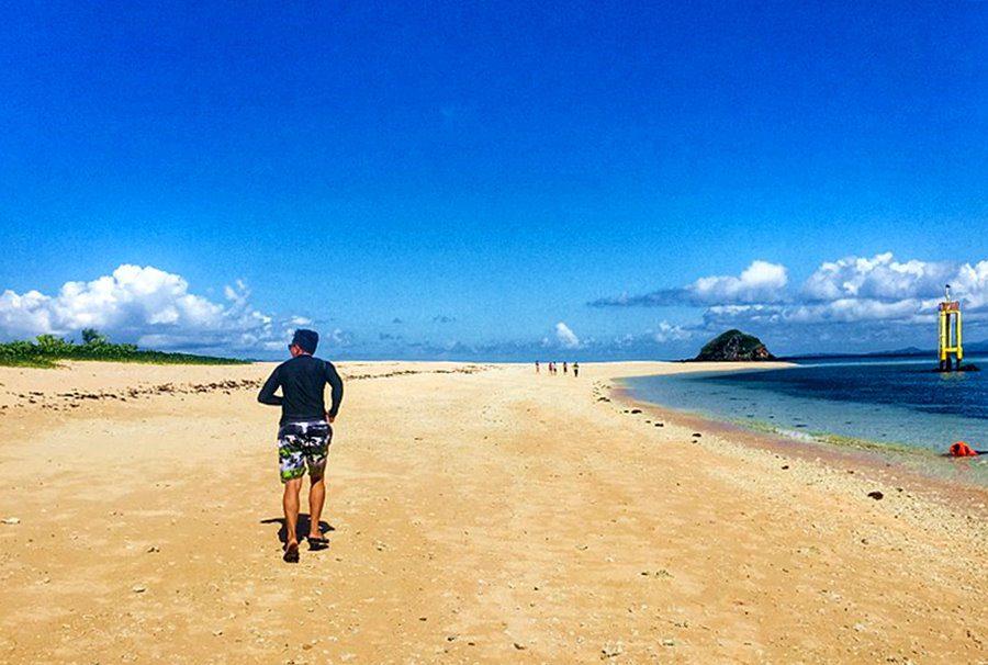 Sandbar in Parola Island, Daet