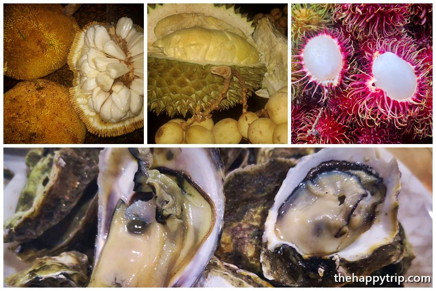 The fruit bounty of Talisay; Below: Talaba