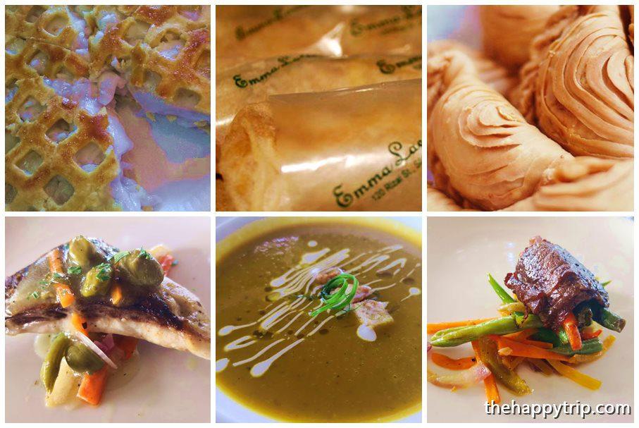 El Ideal's Buko Pie and Emma Lacson's Lumpia and Empanada; Below: Punong Gary's Place